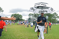 Bubba Watson (USA) approaches the 5th tee during Friday's round 2 of the PGA Championship at the Quail Hollow Club in Charlotte, North Carolina. 8/11/2017.<br /> Picture: Golffile | Ken Murray<br /> <br /> <br /> All photo usage must carry mandatory copyright credit (&copy; Golffile | Ken Murray)