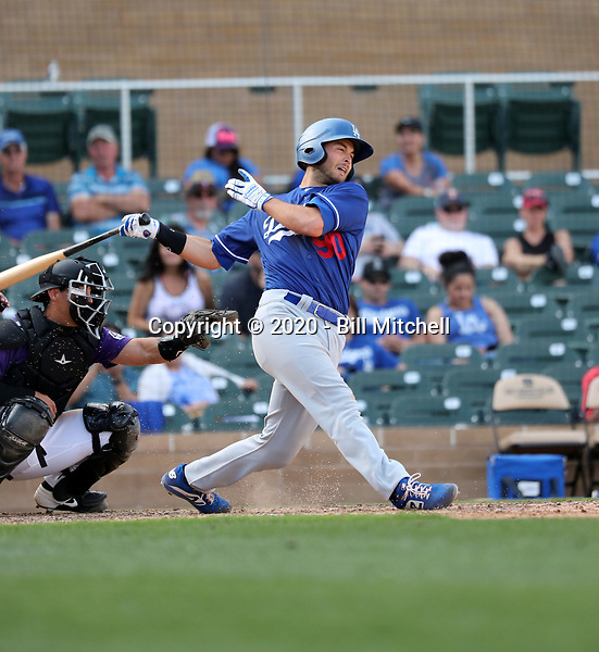 Justin Yurchak - Los Angeles Dodgers 2020 spring training (Bill Mitchell)