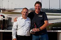 IMSA Porsche GT3 Cup Challenge USA<br /> Road Atlanta<br /> Road Atlanta, Braselton GA<br /> Friday 6 October 2017<br /> 2017 Porsche GT3 Cup USA Banquet, 56, David Baker, GT3P, USA, M, 2017 Porsche 991, Spirit of Speed Award<br /> World Copyright: Jake Galstad<br /> LAT Images