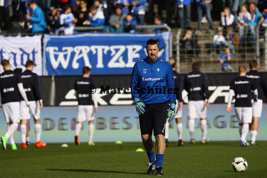 Mainzer Rekordspieler Dimo Wache ist Torwarttrainer beim SV Darmstadt 98 - 11.03.2017: SV Darmstadt 98 vs. 1. FSV Mainz 05, Johnny Heimes Stadion am Boellenfalltor