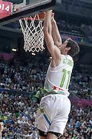 Slovenia's Goran Dragic during 2014 FIBA Basketball World Cup Quarter-Finals match.September 9,2014.(ALTERPHOTOS/Acero)