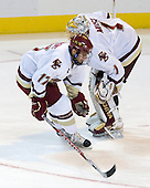Brian Gibbons (BC - 17), John Muse (BC - 1) - The Boston College Eagles defeated the Yale University Bulldogs 9-7 in the Northeast Regional final on Sunday, March 28, 2010, at the DCU Center in Worcester, Massachusetts.