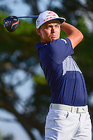 Rickie Fowler (USA) watches his tee shot on 14 during round 3 of the Honda Classic, PGA National, Palm Beach Gardens, West Palm Beach, Florida, USA. 2/25/2017.<br /> Picture: Golffile | Ken Murray<br /> <br /> <br /> All photo usage must carry mandatory copyright credit (&copy; Golffile | Ken Murray)