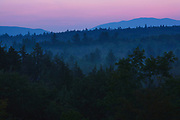 Sunrise along the Kancamagus Highway (route 112), which is one of New England's scenic byways located in the White Mountains, New Hampshire USA.