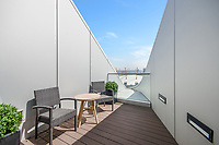 BNPS.co.uk (01202 558833)<br /> Pic:  Johns&Co/BNPS<br /> <br /> Private balcony with views over the 02.<br /> <br /> Fancy joining the Premier league of London property?<br /> <br /> A luxurious London apartment that has been home to a string of Premier League footballers has emerged for sale for close to £2m.<br /> <br /> The lavish home is on the 25th and 26th floors of the stylish Ontario Tower in Ballymore, close to Canary Wharf.<br /> <br /> It's prime location and stylish facilities have made it a favourite of West Ham United players with three internationals having lived there.