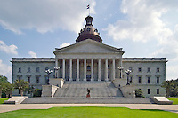 The South Carolina State Capitol building, in downtown Columbia, SC.