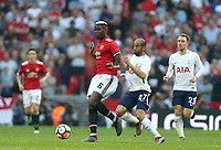 Manchester United's Paul Pogba and Tottenham Hotspur's Lucas Moura<br /> <br /> Photographer Rob Newell/CameraSport<br /> <br /> Emirates FA Cup - Emirates FA Cup Semi Final - Manchester United v Tottenham Hotspur - Saturday 21st April 2018 - Wembley Stadium - London<br />  <br /> World Copyright &copy; 2018 CameraSport. All rights reserved. 43 Linden Ave. Countesthorpe. Leicester. England. LE8 5PG - Tel: +44 (0) 116 277 4147 - admin@camerasport.com - www.camerasport.com