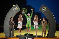 green jersey: Peter Sagan (SVK)<br /> <br /> Tour de France 2013<br /> (final) stage 21: Versailles - Paris Champs-Elysées<br /> 133,5km