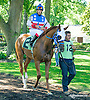 Pasta Giovanni before The Longines Gentlemans International Fegentri race at Delaware Park on 9/14/15 - Mr. Vladimir Cespedes aboard