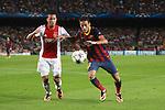UEFA Champions League 2013/2014.<br /> FC Barcelona vs AFC Ajax: 4-0 - Game: 1.<br /> Neymar vs Van Rhijn.