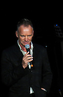 NEW YORK, NY - OCTOBER 4: Sting at Paul Simon's Children's Health Fund's 25th Anniversary Benefit Concert at Radio City Music Hall on October 4, 2012. Credit Jen Maler/MediaPunch Inc. /©NortePhoto