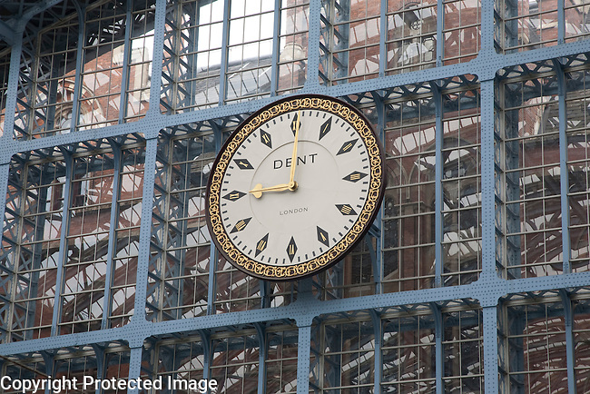 Clock at St Pancras International Railway Station, London