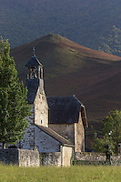 Europe, France, Aquitaine, Pyrénées-Atlantiques, Béarn, Vallée d'Aspe,  Accous, Chapelle Saint-Saturnin à  Jouers // Europe, France, Aquitaine, Pyrenees Atlantiques, Bearn, Aspe Valley, Accous, Saint-Saturnin chapel, Jouers,