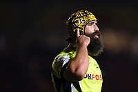 Josh Strauss of Sale Sharks. Aviva Premiership match, between Harlequins and Sale Sharks on October 6, 2017 at the Twickenham Stoop in London, England. Photo by: Patrick Khachfe / JMP