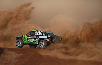 Apr 17, 2010; Surprise, AZ USA; LOORRS pro 2 unlimited driver Jeremy McGrath takes a turn during round 3 at Speedworld Off Road Park. Mandatory Credit: Mark J. Rebilas-US PRESSWIRE.
