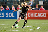 Leslie Osborne kicks the ball. FC Gold Pride defeated Sky Blue FC 1-0 at Buck Shaw Stadium in Santa Clara, California on May 3, 2009.
