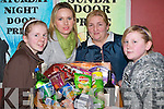 HAMPER: The last hamper of St John's Parish Bazaar in the KDYS Denny Street Tralee on Sunday was won by . Rachel, Carmel and Nicole Patten Abbeydorney getting an helping hand from Danielle Moore. .......   Copyright Kerry's Eye 2008