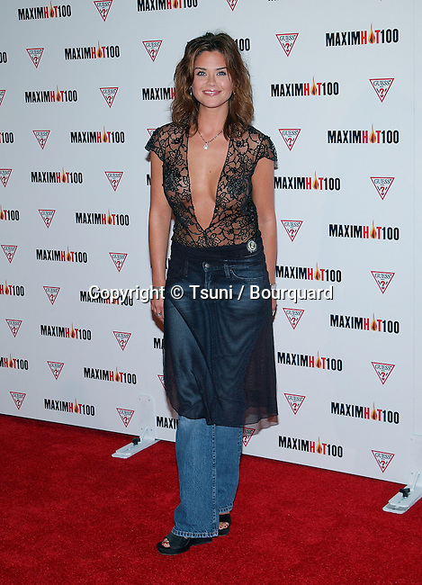 Susan Ward arriving at the HOT 100 party organize by Maxim  at Yamashiro restaurant in Los Angeles. April 25, 2002.
