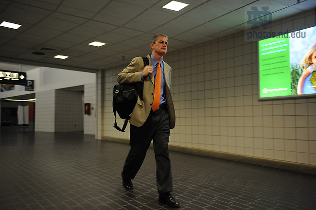 John Anthony departs from South Bend Regional Airport