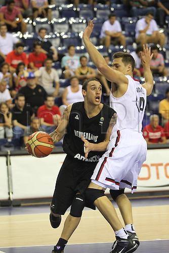 01.08.2010. Basketball World Championships, Izmir, Turkey. New Zealand v Canada. Day 5