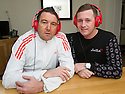 Fraser Ogilvie, Vale of Leithen, (right) and former Hearts player Kevin Twaddle who hosted a radio phone-in which has been axed.