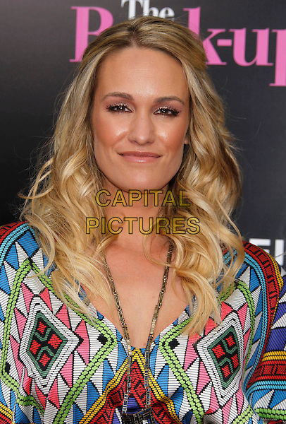 "ASLAN GORSE.""The Back-up Plan"" Los Angeles Premiere held at the Regency Village Theatre, Westwood, California, USA, 21st April 2010. .arrivals portrait headshot necklace  multi-coloured white green pink red print .CAP/ADM/MJ.©Michael Jade/AdMedia/Capital Pictures."