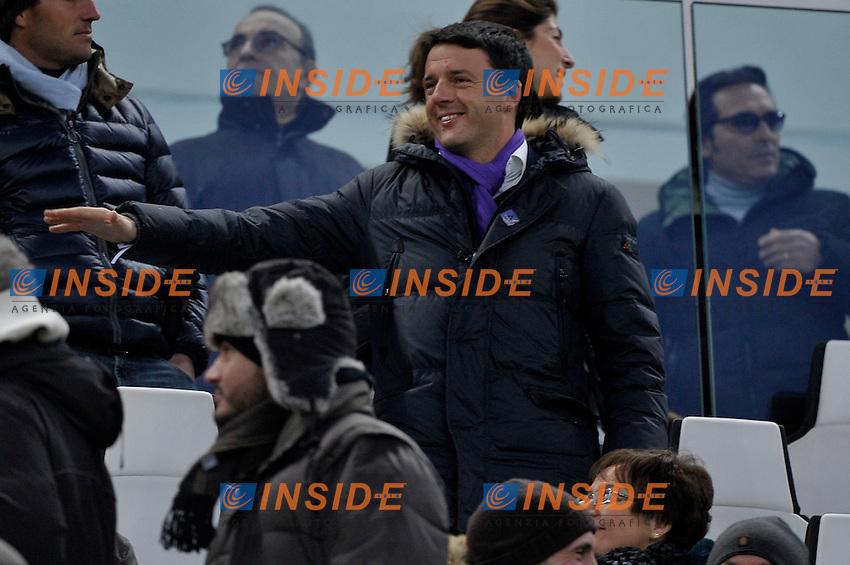 Matteo Renzi in tribuna  .Torino 9/02/2013 Juventus Stadium.Football Calcio Serie A  2012/13.Juventus vs Fiorentina.Foto Insidefoto Federico Tardito