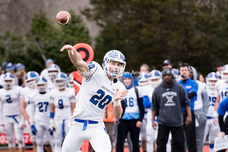 CHESHIRE, CT - 25 November 2015-112615EC12-- Southington's Jasen Rose, who recently committed to UConn football, lead the Blue Knights over Cheshire. Erin Covey Republican-American.