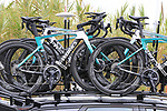 Bora-Hansgrohe Spacialized bikes on the team cars before the start of Stage 4 of La Vuelta 2019 running 175.5km from Cullera to El Puig, Spain. 27th August 2019.<br /> Picture: Eoin Clarke | Cyclefile<br /> <br /> All photos usage must carry mandatory copyright credit (© Cyclefile | Eoin Clarke)