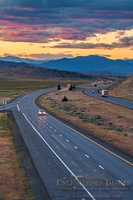 Interstate 5, near Weed, Siskiyou County, California