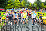 The cyclists at the start at the Ring of the Reeks cycle in Beaufort on Saturday