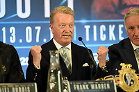 Frank Warren during a Press Conference at Intercontinental Hotel O2 on 5th June 2019