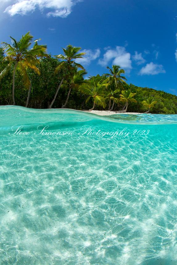 Salomon Beach split level<br /> Virgin Islands National Park<br /> St. John<br /> US Virgin Islands