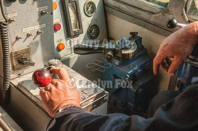 Riding in the cab of the Romanian-built diesel locomotive with Milan and the engineer on the narrow gauge railroad--Sargen 8 between Sargen and Mokra Gora, Serbia<br /> <br /> 760mm gauge, 1.8 percent average grade, 20 tunnels, 15 kilometers and 300 meters in elevation gain between the stations which are about 4 kilometers apart as the crow flies.<br /> <br /> This section of the railroad is the only section of the narrow gauge line built in the 1920s between Beograd and Sarajevo.