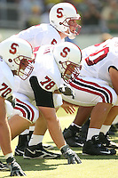 2 September 2006: Jeff Edwards, Jon Cochran and Trent Edwards during Stanford's 48-10 loss to the Oregon Ducks at Autzen Stadium in Eugene, OR.
