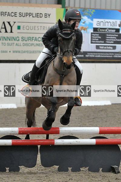 Class 5. Unaffiliated showjumping. Brook Farm Training Centre. Essex. UK. 17/12/2017. ~ MANDATORY CREDIT Garry Bowden/Sport in Pictures - NO UNAUTHORISED USE - +44 7837 394578
