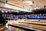 CLAYTON, MO - APRIL 14: Lauren Pate #9 of McKendree University releases the ball during the Division I Women's Bowling Championship held at Tropicana Lanes on April 14, 2018 in Clayton, Missouri. Vanderbilt University defeated McKendree University 4-3. (Photo by Tim Nwachukwu/NCAA Photos via Getty Images)