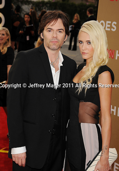 LOS ANGELES, CA - DECEMBER 11: Billy Burke and Pollyanna Rose arrive at 2011 CNN Heroes: An All-Star Tribute at The Shrine Auditorium on December 11, 2011 in Los Angeles, California.
