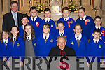 Being confirmed on Tuesday in St Marys Church, Listowel, were the class of Killocrim National School, Listowel, pictured with Bishop Bill Murphy. Front row l-r: Niamh Hayes, Sarah Kerins, Alice Neville, Julianne Fitzpatrick, Gearoid Bruder, Tracey Lyons and Gavin Molyneaux. Back row l-r: Dan Joy (Teacher), Aisling McVeigh, Stephen McCarthy, Raymond Wilmot, Samuel Conway, Harry Foley and Daniel Costelloe..