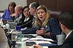 Nevada Sen. Patricia Farley, R-Las Vegas, works in committee at the Legislative Building in Carson City, Nev., on Friday, March 20, 2015. <br /> Photo by Cathleen Allison