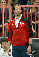 Handball 1. Bundesliga  2012/2013  in der Paul Horn Arena Tuebingen TV Neuhausen - Fuechse Berlin Trainer Dagur Sigurdsson (Fuechse Berlin)