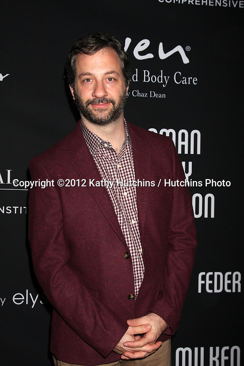 "LOS ANGELES - OCT 26:  Judd Apatow arrives at ""The Pink Party '12"" at Hanger 8 on October 26, 2012 in Santa Monica, CA"