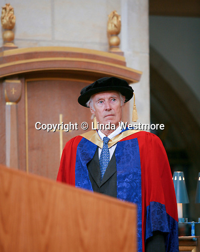 University Graduation Day.  Sir George Martin (recorded the Beatles music) gets an Honorary Degree..
