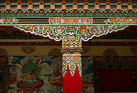 The art found in the arhitectural style and the interiors of a Buddhist Monastery  in Sikkim India - a decorated pillar