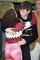"Maisie Williams and Eddie Redmayne<br /> arriving for the ""Early Man"" world premiere at the IMAX, South Bank, London<br /> <br /> <br /> ©Ash Knotek  D3369  14/01/2018"