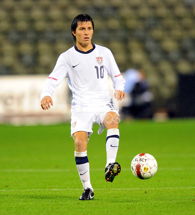 Jose Torres of team USA during the friendly match Belgium against USA at King Baudoin stadium in Brussel, Belgium on September 06th, 2011.