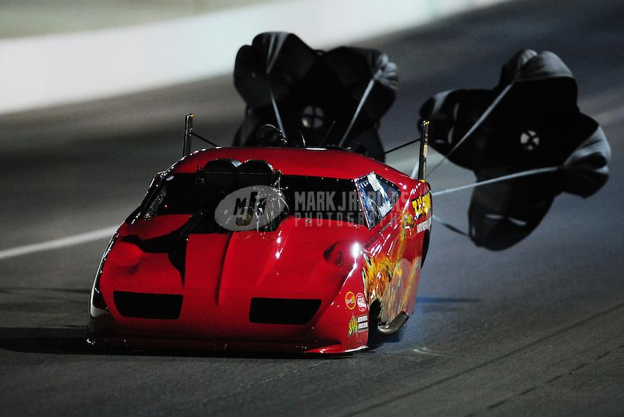 Oct. 28 2011; Las Vegas, NV, USA: NHRA pro mod driver Peter Farber during qualifying for the Big O Tires Nationals at The Strip at Las Vegas Motor Speedway. Mandatory Credit: Mark J. Rebilas-US PRESSWIRE