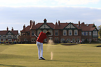 Harry Goddard (Hanbury Manor) on the 18th fairway during Round 4 of the Lytham Trophy 2019, held at Royal Lytham & St. Anne's, Lytham, Lancashire, England. 05/05/19<br /> <br /> Picture: Thos Caffrey / Golffile<br /> <br /> All photos usage must carry mandatory copyright credit (© Golffile | Thos Caffrey)