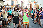 Annual high-heeled race during Gay Pride celebrations at Pelayo Street in Chueca, Madrid, Spain. July 02, 2015.<br />  (ALTERPHOTOS/BorjaB.Hojas)