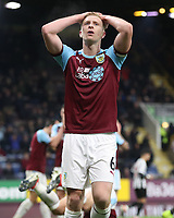 Burnley's Ben Mee <br /> <br /> Photographer Rachel Holborn/CameraSport<br /> <br /> The Premier League - Burnley v Newcastle United - Monday 26th November 2018 - Turf Moor - Burnley<br /> <br /> World Copyright &copy; 2018 CameraSport. All rights reserved. 43 Linden Ave. Countesthorpe. Leicester. England. LE8 5PG - Tel: +44 (0) 116 277 4147 - admin@camerasport.com - www.camerasport.com